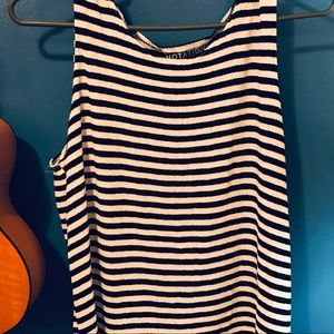 Vintage Tops - Vintage Notations black and white striped tank